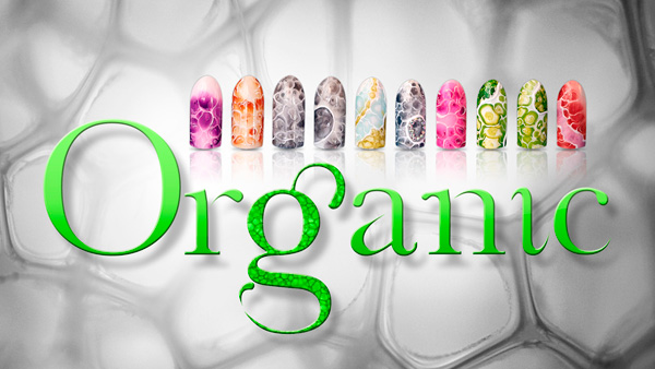 Organic Art Polka Nails